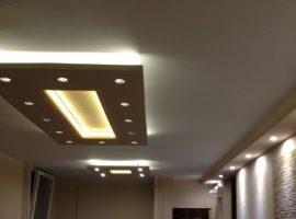 Téglalap (200x100cm) Süllyesztett szett szabályozható LED  spottal (T-200x100-FS)
