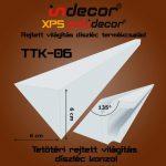 Rejtett világítás díszléchez  135 fokos tetőtéri csatlakozás kialakítás (6 cm magas díszlécekhez)2 méter