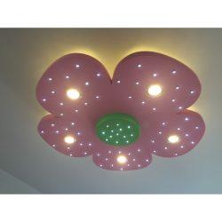 Virág 5 szirmú álmennyezet sziget LED világítással