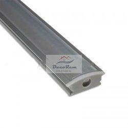 Süllyeszthető Alu U Profil sín LED szalaghoz (2 m)Választható fedéssel
